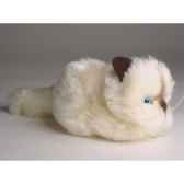 peluche allongee chaton beige 12 cm piutre 2326