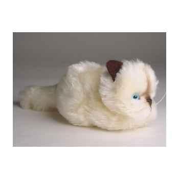 Peluche allongée chaton beige 12 cm Piutre -2326