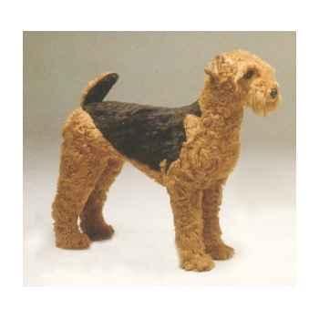 Peluche debout airedale terrier 90 cm Piutre -2217