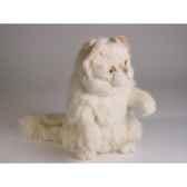peluche chat persan chinchilla beige qui reclame 30 cm piutre 2309