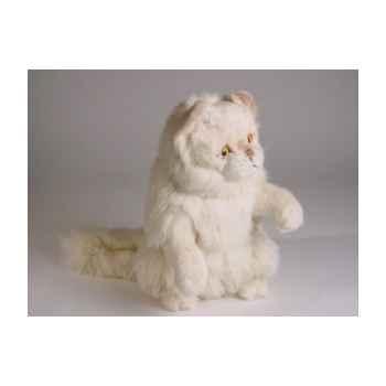 Peluche chat persan chinchilla beige qui réclame 30 cm Piutre -2309