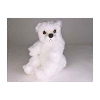 Peluche assise ours polaire 30 cm Piutre -2119