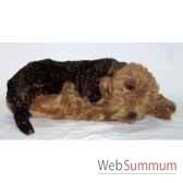 peluche allongee airedale terrier 85 cm piutre 2230