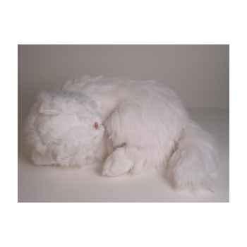 Peluche chat persan blanc dormant 50 cm Piutre -313
