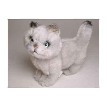 Peluche debout chat british shorthair 28 cm Piutre -2462