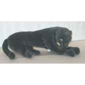 peluche allongee panthere noire 65 cm piutre 501