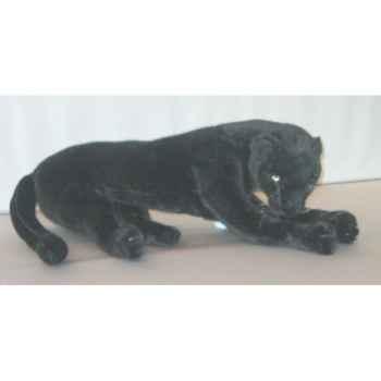 Peluche allongée panthère noire 65 cm Piutre -501