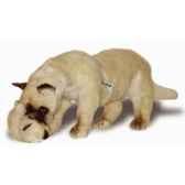 peluche debout chat siamois avec chaton qui joue 60 cm piutre 2356