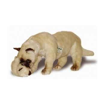 Peluche debout chat siamois avec chaton qui joue 60 cm Piutre -2356