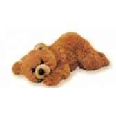 peluche allongee ours grizzly 35 cm piutre 2107