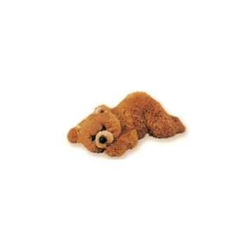 Peluche allongée ours grizzly 35 cm Piutre -2107