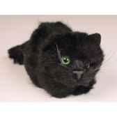 peluche allongee chaton noir 12 cm piutre 2451