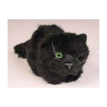 Peluche allongée chaton noir 12 cm Piutre -2451