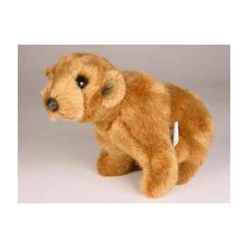 Peluche assise miniature ours grizzly 24 cm Piutre -4292