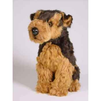 Peluche assise airedale terrier 40 cm Piutre -2219
