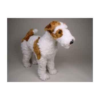 Peluche debout fox terrier 60 cm Piutre -3275