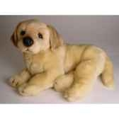 peluche allongee golden retriever 40 cm piutre 2206