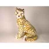 peluche assise guepard 48 cm piutre 2584