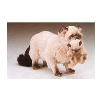 Peluche debout chat persan Couleurpoint 60 cm avec chaton Piutre -2359