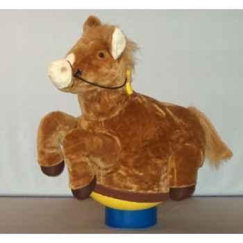 Peluche Magic cheval marron cm Piutre -G094