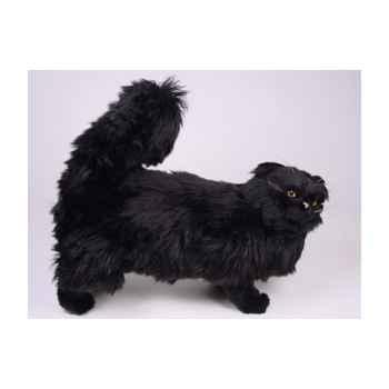 Peluche debout chat persan noir 50 cm Piutre -2395