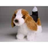 peluche debout miniature basset hound 24 cm piutre 4289