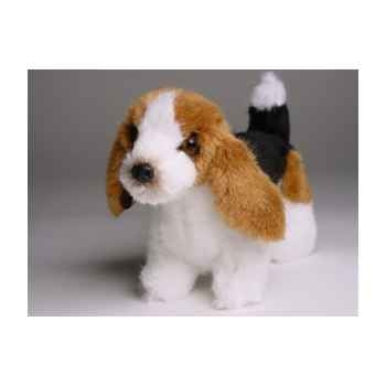 Peluche debout miniature basset-hound 24 cm Piutre -4289