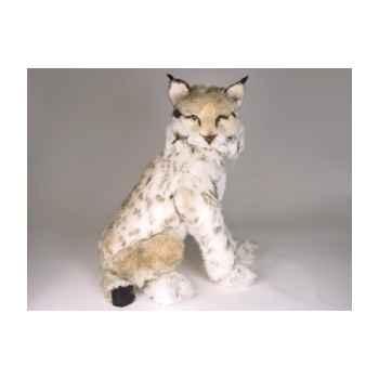 Peluche assise lynx 55 cm Piutre -2552