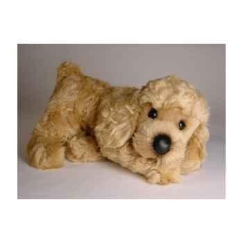 Peluche allongée poodle abricot 35 cm Piutre -288