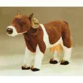 peluche debout vache marron et blanche 60 cm piutre 2668