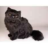 peluche assise chat persan noir 40 cm piutre 2396