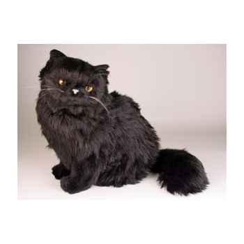 Peluche assise chat persan noir 40 cm Piutre -2396