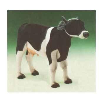 Peluche debout vache noire et blanche 130 cm Piutre -2686
