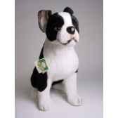 peluche assise boston terrier 55 cm piutre 4220
