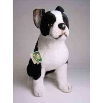 Peluche assise boston terrier 55 cm Piutre -4220