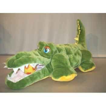 Peluche crocodile matelassé 80 cm Piutre -TR01