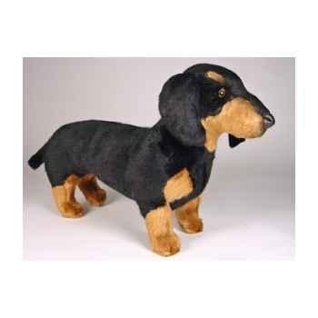 Peluche debout teckel dachshund 45 cm Piutre -1214