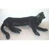 peluche allongee panthere noire 140 cm piutre 2518