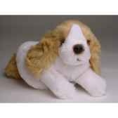 peluche allongee mascot cocker 20 cm piutre 4244