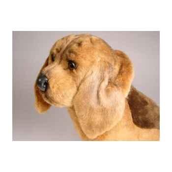 Peluche assise chien de Saint Hubert 35 cm Piutre -3219