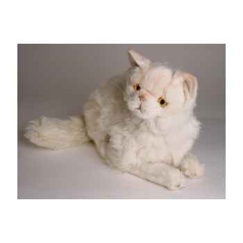 Peluche allongée chat persan chinchilla beige 50 cm Piutre -2306