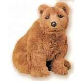 peluche assise ours grizzly 45 cm piutre 2104