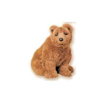 Peluche assise ours grizzly 45 cm Piutre -2104