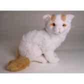 peluche allongee chat turc de van 35 cm piutre 2318