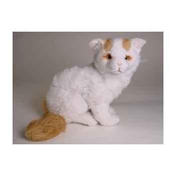 Peluche allongée chat turc de Van 35 cm Piutre -2318
