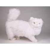peluche debout chat persan blanc 50 cm piutre 2386