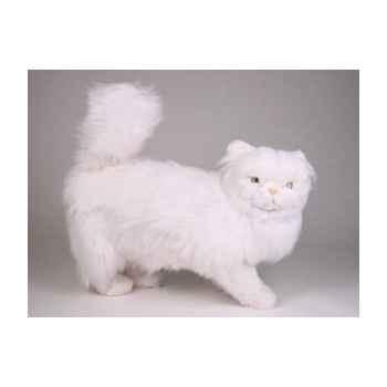 Peluche debout chat persan blanc 50 cm Piutre -2386
