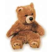 peluche assise ours grizzly 40 cm piutre 2106
