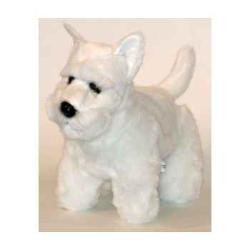 Peluche scottish terrier blanc 45 cm Piutre -261