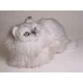 peluche accroupie chat persan argente 30 cm piutre 2425